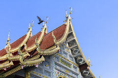 Thai style temple in northern thailand Royalty Free Stock Photo