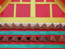 Thai Style Temple Roof Tiles Stock Photo
