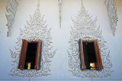 Thai style of temple's windows Royalty Free Stock Image