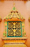 Thai style temple window Royalty Free Stock Photos