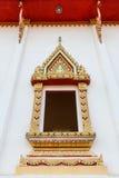 Thai style temple windows Royalty Free Stock Photo
