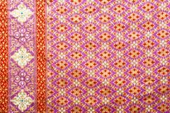 Thai style texture fabric Royalty Free Stock Photos