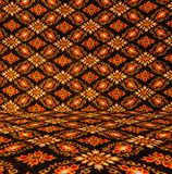 Thai style texture fabric. Corner Stock Images
