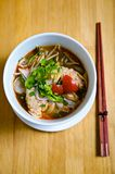 Thai Style Tom-yam Noodle soup Royalty Free Stock Photography