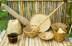 Thai style tools from bamboo Royalty Free Stock Photography