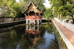 Thai style traditional wooden house Royalty Free Stock Photos