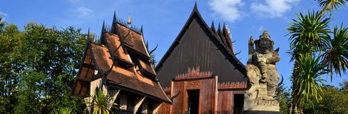 Thai style traditional wooden house Stock Photos