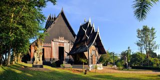 Thai style traditional wooden house Stock Images