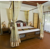 Thai style tropical bedroom Stock Images