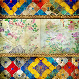Thai style vintage background Royalty Free Stock Images