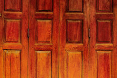 Thai style vintage wood door Royalty Free Stock Photography