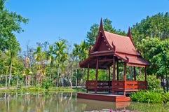 Thai style waterfront pavillian Royalty Free Stock Photos