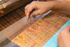 Thai style weaving equipmen Royalty Free Stock Images