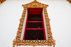 Thai style window Royalty Free Stock Photography
