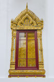 Thai style window at Emerald Buddha temple Royalty Free Stock Photography