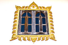 Thai style window of temple. In Loei,Thailand Stock Image