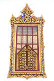 Thai style window. Of temple Royalty Free Stock Photos