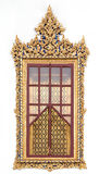 Thai style window. Of temple Royalty Free Stock Photography