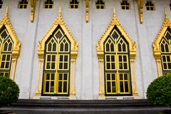 Thai style windows Stock Photo