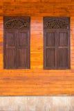 Thai style windows Royalty Free Stock Photography