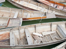 Thai style wood boat Royalty Free Stock Photo