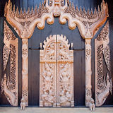 Thai style wood carving Stock Photo