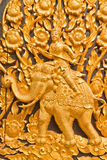 Thai style wood carving Stock Images