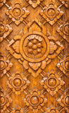 Thai-style wood carving Royalty Free Stock Photos