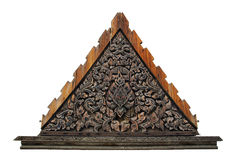 Thai style wood gable Royalty Free Stock Image