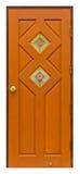 Thai style wooden door Royalty Free Stock Photos