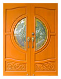 Thai Style Wooden Doors Royalty Free Stock Photography