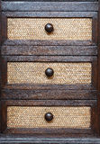 Thai style wooden drawer Stock Photography