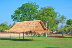 Thai style wooden hut Stock Photos