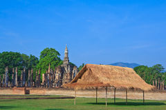 Thai style wooden hut Royalty Free Stock Images