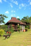 Thai style wooden hut on resort Royalty Free Stock Images