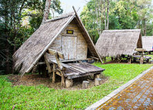 Thai style wooden hut for tourists. Royalty Free Stock Photo