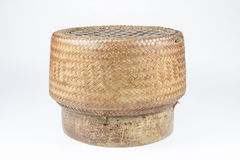 Thai style Wooden rice box Stock Image