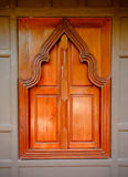 Thai  style  wooden temple window Royalty Free Stock Photo