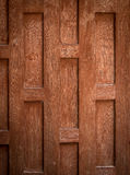 Thai style wooden wall. Design of a Thai style wall, made of Teak wood Stock Images