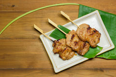 Thai styled pork barbeque Stock Photo