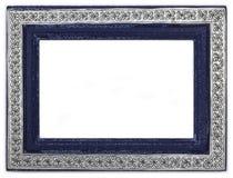 Thai styled vintage handmade frame. Isolated on white background Stock Images