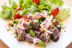Thai Summer spicy beef salad Stock Photo