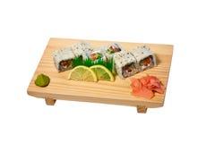 Thai sushi. On the plate Stock Photos