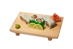 Thai sushi. On the plate Stock Image