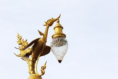 Thai Swan statue hold lighting Royalty Free Stock Photos