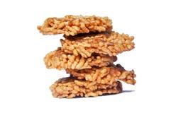 Thai Sweet Crispy Rice Cracker Royalty Free Stock Photos