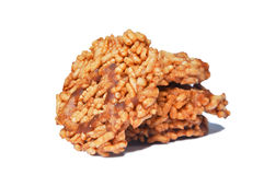 Thai Sweet Crispy Rice Cracker Stock Photo