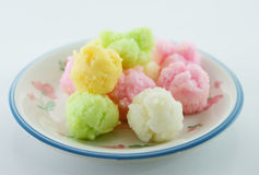 Thai sweet dessert. Khanom thuay fu Thai sweet dessert Stock Images