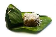 Thai sweet dessert Sticky Rice coconut Stock Image