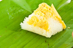 Thai sweet dessert ,Sticky Rice Custard Stock Photo